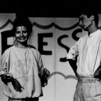 """on stage with Eleni Glock (Groszer;-) in """"The Poet & The Rent"""" by David Mamet, 1986"""