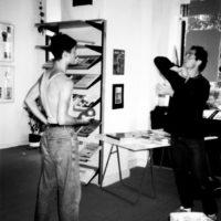 with Michael Moschen, Jonglerie Berlin 1987/photo: H. Schulz