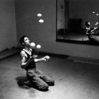 and training!!! Jonglerie Berlin 1988/photos: H. Schulz